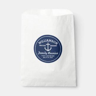 Nautical Anchor Family Reunion Trip Cruise Beach Favor Bag