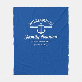 Nautical Anchor Family Reunion Trip Cruise Beach Fleece Blanket