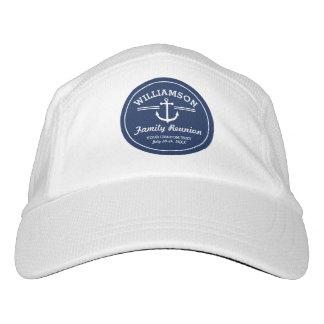Nautical Anchor Family Reunion Trip Cruise Beach Headsweats Hat