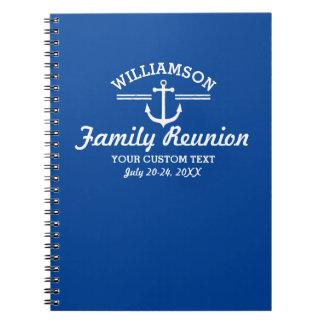 Nautical Anchor Family Reunion Trip Cruise Beach Note Books
