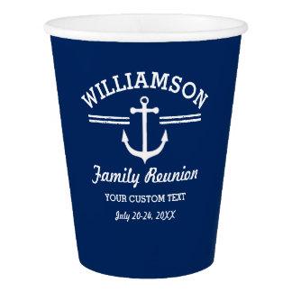 Nautical Anchor Family Reunion Trip Cruise Beach Paper Cup