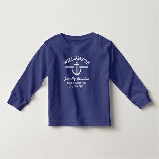 Nautical Anchor Family Reunion Trip Cruise Beach T Shirt