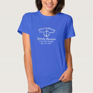 Nautical Anchor Family Reunion Trip Cruise Beach Tee Shirt