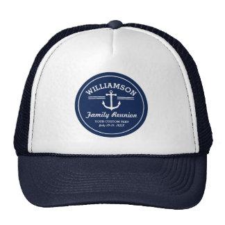 Nautical Anchor Family Reunion Trip Cruise Beach Trucker Hat