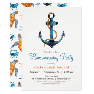 Nautical Anchor Housewarming Party Invitation