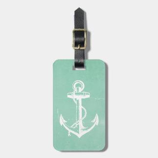 Nautical Anchor Luggage Tag