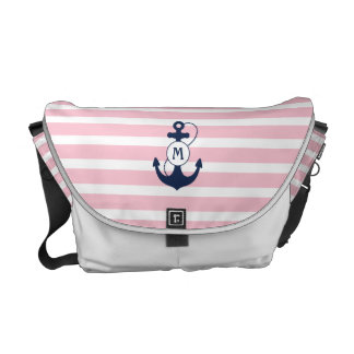 Nautical Anchor Monogram Courier Bags