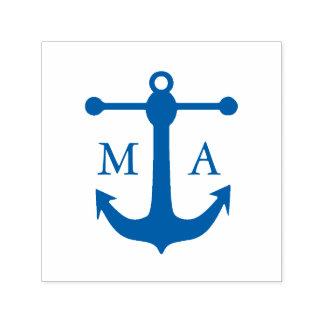Nautical Anchor Monogram Self-inking Stamp