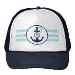 Nautical Anchor Monogram Trucker Hat