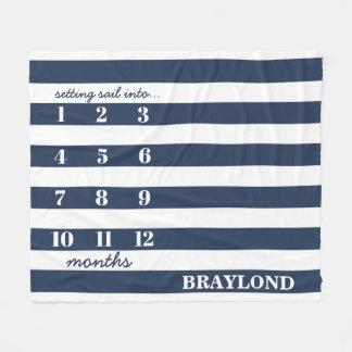 Nautical Anchor Monthly Milestone Blanket