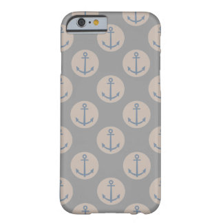 Nautical Anchor Natural Grey And Cream Barely There iPhone 6 Case