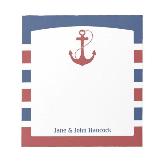 Nautical Anchor Notepad