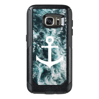 Nautical anchor on ocean photo background OtterBox samsung galaxy s7 case
