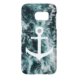 Nautical anchor on ocean photo background samsung galaxy s7 case