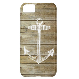 Nautical Anchor on wood graphic Case For iPhone 5C