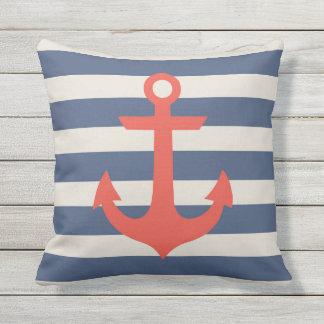 """Nautical Anchor Outdoor Throw Pillow"""" Outdoor Pillow"""