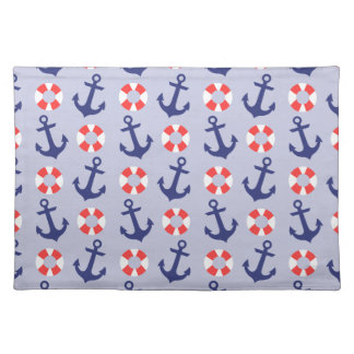 Nautical Anchor Pattern Placemat