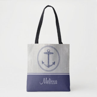 Nautical Anchor | Personalized Tote Bag