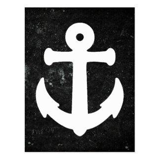 Nautical Anchor Postcard w Chalkboard Background