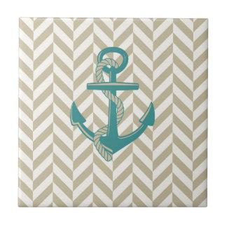 Nautical Anchor Print Design Boat Ocean Art Tile