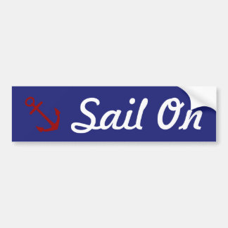 Nautical Anchor Sail On Bumper Sticker