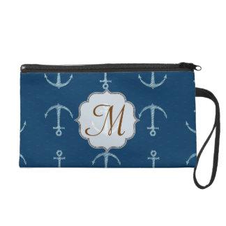 Nautical Anchor Sail Sailin Make Up Bag Tote Purse Wristlet Purses