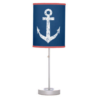 Nautical anchor table lamp | Distressed look