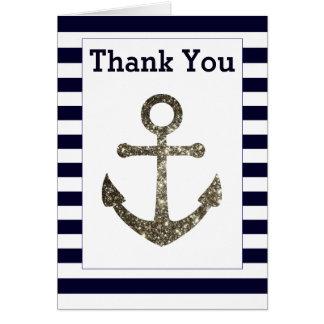 Nautical Anchor Thank You Cards