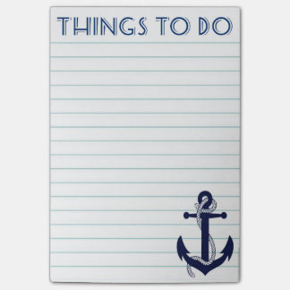 Nautical Anchor Things to Do Post It Notes