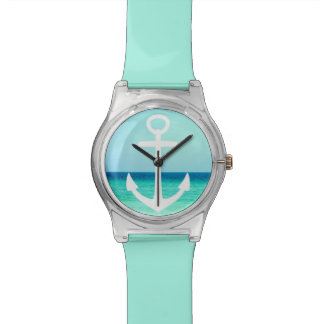 Nautical Anchor Turquoise Ocean Watch