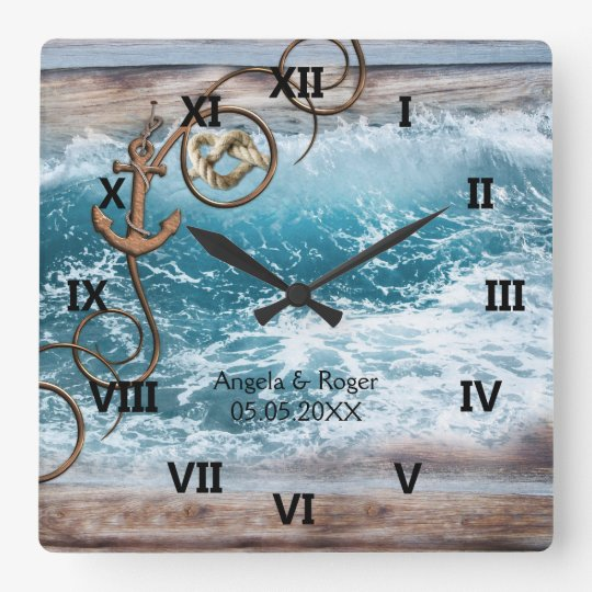 Nautical Anchor Wedding Clock