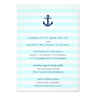 Nautical Anchor Wedding Invitation