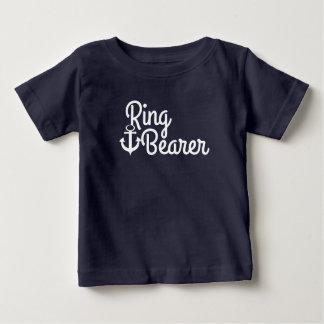 Nautical Anchor Wedding Ring Bearer Baby T-Shirt