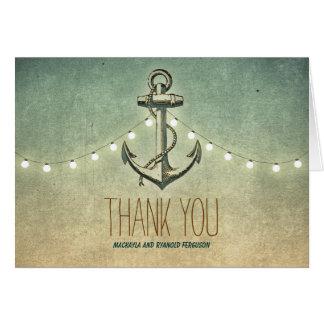 Nautical Anchor Wedding Thank You Card