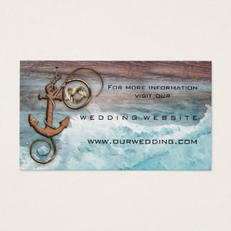 Nautical Anchor Wedding Website Insert Card