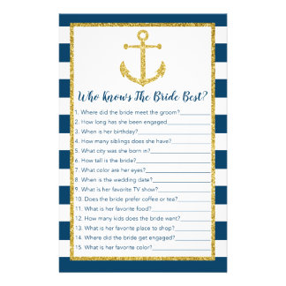 Nautical Anchor Who Knows The Bride Game Flyer
