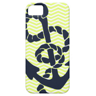 Nautical Anchor Yellow Chevron iphone 5  case
