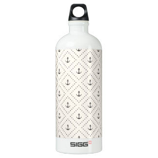 Nautical Anchors 1 Water Bottle