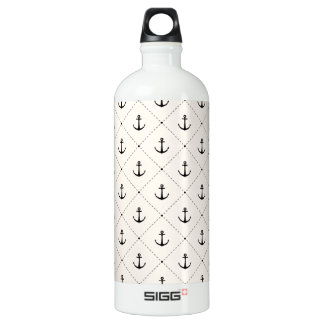 Nautical Anchors 5 Water Bottle