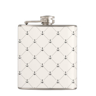 Nautical Anchors 9 Flasks