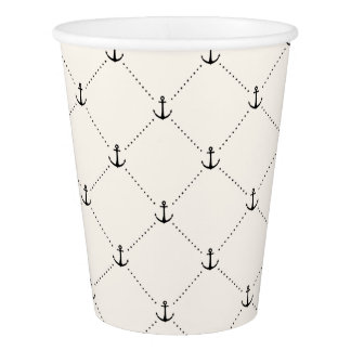 Nautical Anchors 9 Paper Cup