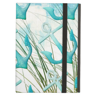 Nautical Anchors Beach Ocean Seaside Coastal Theme iPad Air Cases