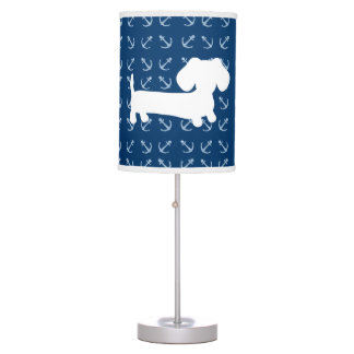 Nautical Anchors Dachshund Lamp