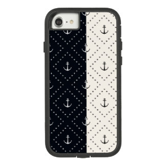 Nautical Anchors in Diamonds Cream and Black Case-Mate Tough Extreme iPhone 8/7 Case