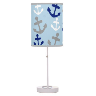 Nautical Anchors Nursery Lamp