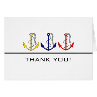 Nautical Anchors Thank You Card