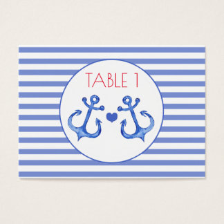 Nautical Anchors | Wedding Table Cards