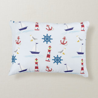 Nautical Animation Accent Pillow