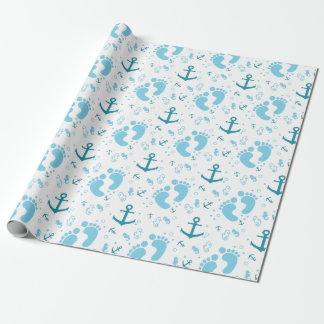 Nautical baby boy blue pattern