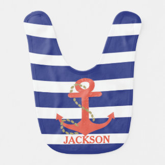 Nautical Baby Boy Personalized Bib Gift